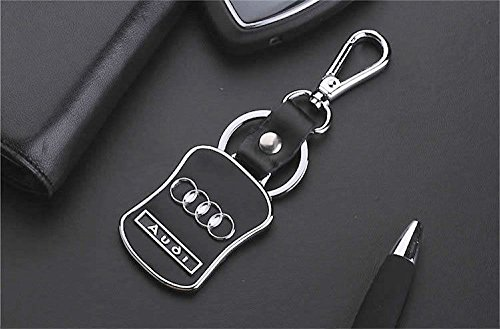 - CHAMPLED Audi Emblem Keychain Keyring Logo Fashion Black Titanium Symbol Sign Badge Personalized Custom Logotipo Quality Metal Alloy Nice Gift for Man Woman