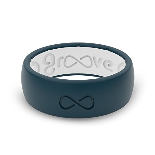 Groove Plus Life - Groove Ring The World's First Breathable Silicone Ring Original (Anchor Blue/Snow White) (Size 14) ()