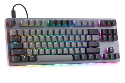 DROP Massdrop CTRL Mechanical Keyboard Tenkeyless TKL (87 Key) Gaming Keyboard, Hot-Swap Switches, Programmable Macros, RGB LED Backlighting, USB-C, Doubleshot PBT, Aluminum Frame (Cherry MX Blue RGB)