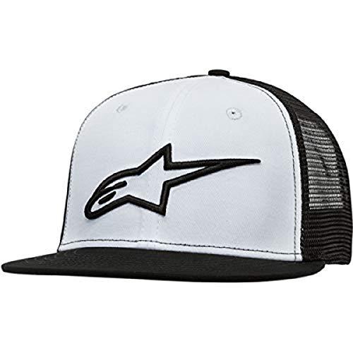 Alpinestars Mens Logo Flexfit Hat Flat Bill Trucker Snap Back