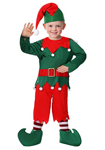Toddler Boy's Santa's Helper Costume 2T Green]()