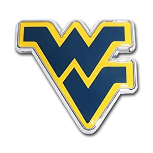 Amazon.com : West Virginia Mountaineers Metal Auto Emblem ...