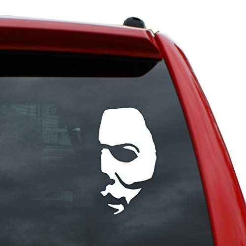"Halloween - Michael Myer Mask - 5"" x 2.7"" Vinyl Decal Window Sticker for Cars, Trucks, Windows, Walls, Laptops, and More."