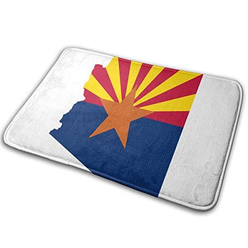 ZZATAA Arizona State Flag Map Print Non-Slip Doormat