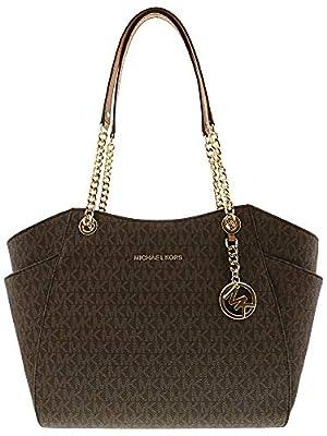 MICHAEL Michael Kors Women's Jet Set Travel Large Chain Shoulder Tote Printed Handbag
