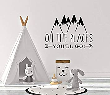 Amazon Com Oh The Places You Ll Go Mountains Wall Vinyl