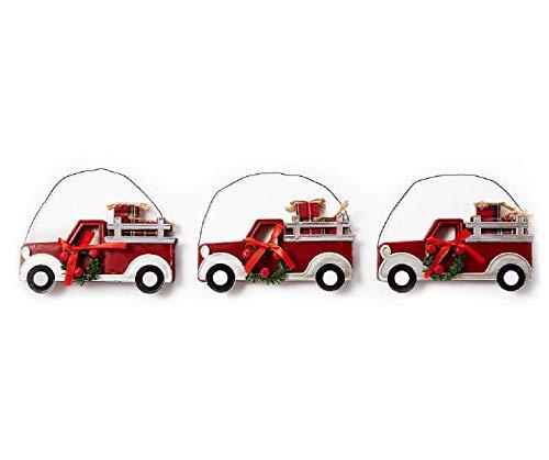 - BLL001 Winter Wonder Lane Retro Truck Ornaments, 3-Pack