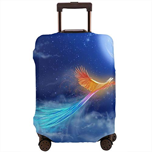 Travel Luggage Suitcase Protector Luggage Case - Full Moon Phoenix Blue Sky, High Elasticity Anti-Scratch Baggage Cover Zipper Protective Cover, Fits 18-28 Inch Luggage (Best Hamburger In Phoenix)