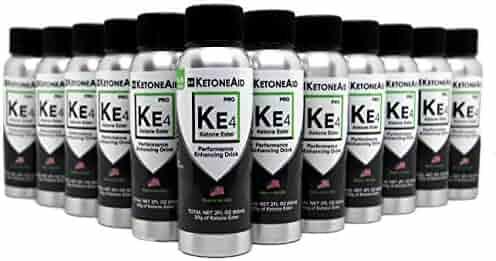 KetoneAid KE4 World's Strongest Ketone Ester Drink, 30g Exogenous D BHB. Not a Salt. Sugar Free, Caffeine Free. (12)