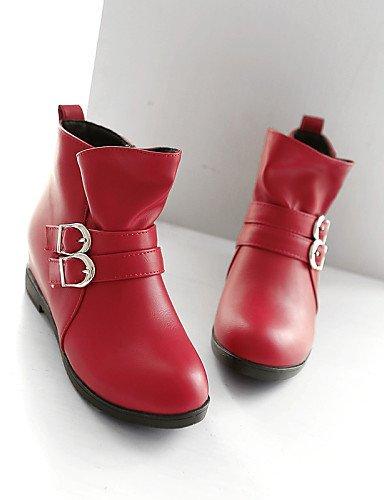 Vestido Zapatos 5 5 us10 La Casual Negro Cn43 5 Xzz Botas Moda Eu38 Semicuero A Rojo Cn38 Uk8 Black Eu42 De 5 Mujer Punta Beige Redonda Uk5 Plataforma Beige us7 4A1xvwqAd