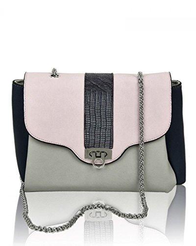 Quality LeahWard For Chain Fashion Grey Handbags Neutral 1102 Bag Cross Body Holiday Tone Women's Two Shoulder Bags XHgwXr