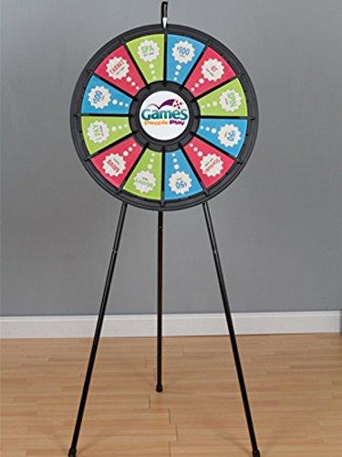 Marketing Holders 12-Slot Black Floor Stand 31 Inch Prize Wheel 63003
