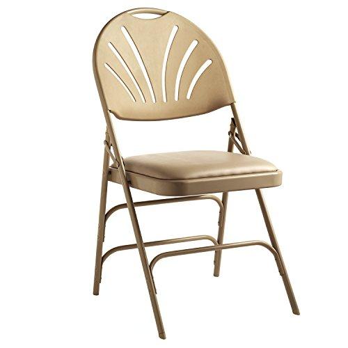 (Samsonite XL Fanback Steel & Vinyl Folding Chair (Case/4) Neutral)