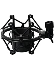 Artibetter 5cm Metal Microphone Shock Mount Anti Vibration Mic Shockmount Clip Holder Studio geluidsopname - Zwart