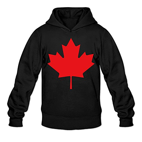 Canada Maple Red Leaf Classic Men's Hooded Hoodies Black S]()