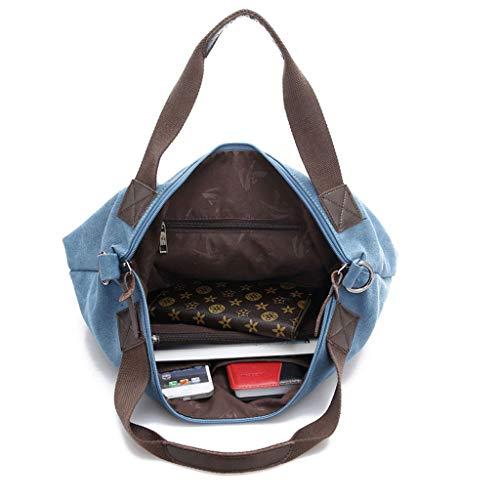 diagonal toile à de bandoulière Sac femmes multi couleur imperméable Brown sac décontracté sac option en dames portable l'eau bandoulière à Sac à de TYqw0qd