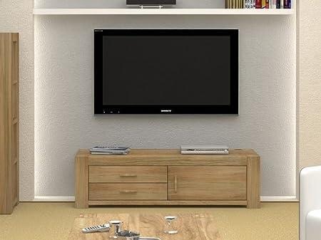 Eton Oak Furniture Pantalla panorámica Mueble para televisor ...