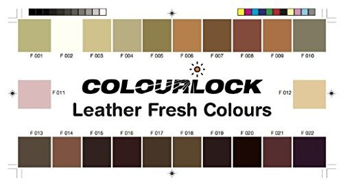 COLOURLOCK Leather Fresh dye is a DIY Repair Color, dye, restorer for scuffs, small cracks on car seats, sofas, bags, settees and clothing - 1 Litre F025 by Colourlock (Image #2)