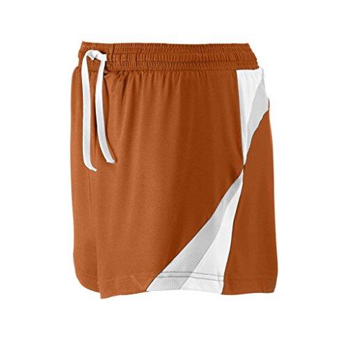 Team 365 Ladies All Sport Short (X-Large, Sport Burnt Orange/Sport Silver) ()