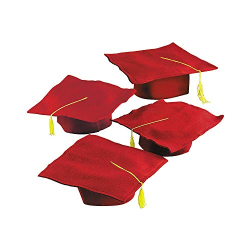 Fun Express White Graduation Cap for Children - Perfect for Your Preschool or Daycare Grad Ceremony - Package of 12 Hats
