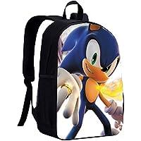 Sonic Backpack Hedgehog Blue Backpack Schoolbag for Kids Boys Girls