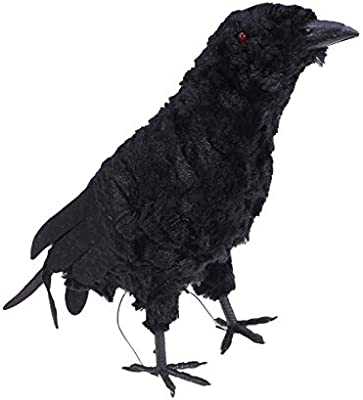 NUOBESTY Halloween Raven Horror Felpa Animal de Peluche Prop ...