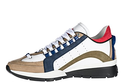 Dsquared2 Herresko Herre Lædersko Sneakers 551 Hvid LJbtXNqlz