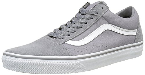 Old Grey Suede Adults' White Trainers True Low Canvas Top Unisex Skool Vans Frost dw07vd