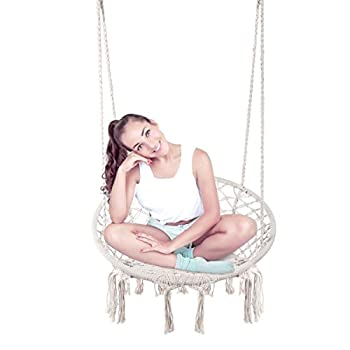 E EVERKING Hammock Chair Macrame Swing, Hanging 
