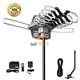 HDTV Antenna Amplified Digital Outdoor TV Antenna 150 Miles Range with Mounting Pole-4K 1080p High Reception for All TVs-32ft RG6 Coaxial Cable