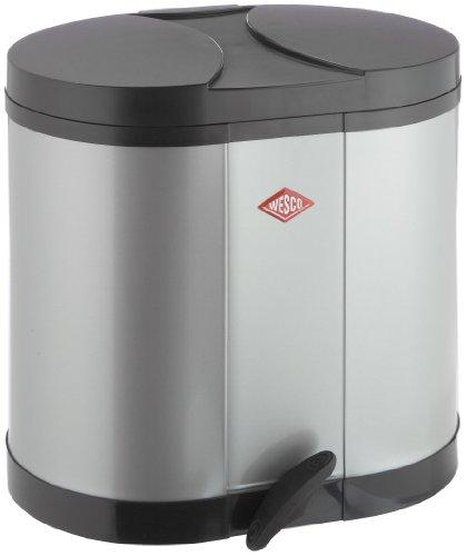 Wesco 170611-11 Öko-Sammler 2X15-Ltr. Silber: Amazon.De: Küche