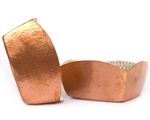 De Kulture Works Copper Bowl Hammered Square Set of 2-4X2 LH (Inches) (Brown)