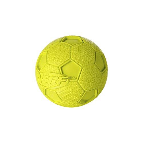Nerf Dog Soccer Squeak Ball Dog Toy, Medium, Green