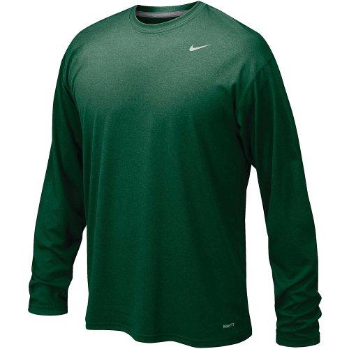 Nike Dk Green Legend Long Sleeve Performance Shirt (Extra - Nike Sleeve Jersey Long