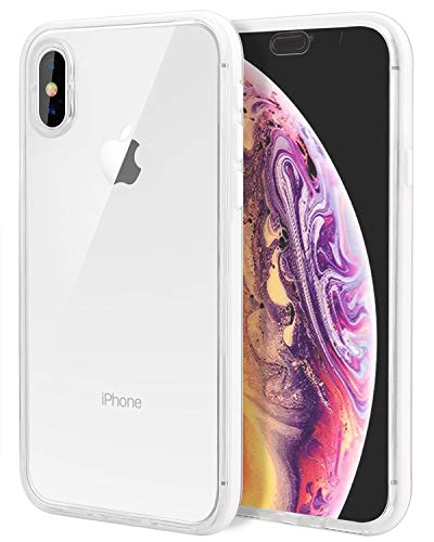 LONTECT Compatible iPhone Xs Max Waterproof Case Slim Thin Clear Full Body Protection Dust/Snow Proof Shockproof Built-in Screen Protector Cover Case for Apple iPhone Xs Max 6.5 2018, Transparent