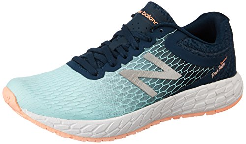 New Balance Women's Boracay V3 Running Shoe Supercell/Ozone Blue/Bleached Sunrise
