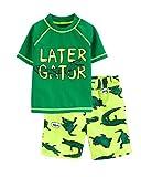 Carter's Boys' Rashguard Set (10/12, Green/Alligator)