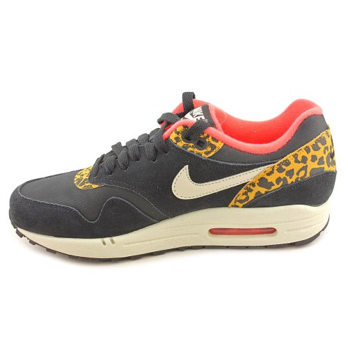 Nike Air Max 1–black/sndrtp-drk GLD lf-snbrst (Leopard) Trainer Negro - negro