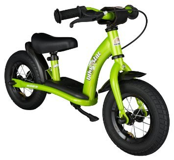 BIKESTAR® Original Safety Lightweight Kids First Balance Running Bike with brakes and with air tires for age 2 year old boys and girls | 10 Inch Classic Edition | Brilliant Green by BIKESTAR