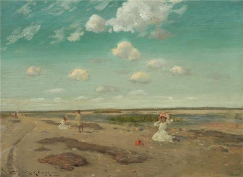 [The High Quality Polyster Canvas Of Oil Painting 'William Merritt Chase,Alternate Title Shinnecock Hills,ca.1880' ,size: 20x27 Inch / 51x69 Cm ,this Amazing Art Decorative Prints On Canvas Is Fit For Powder Room Artwork And Home Decoration And] (King Triton Costume For Kids)