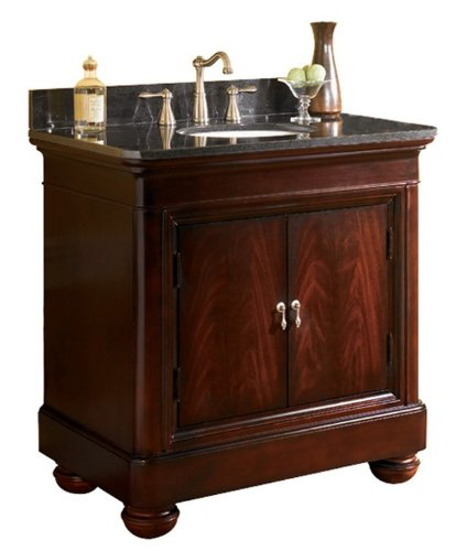 Kaco international 893-3600AB Mount Vernon 36-Inch Vanity with a Merlot Sherwin Williams Finish including a Black Granite Top