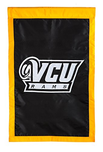 (Fans With Pride VCU Virginia Commonwealth University Rams Applique Logo House Flag)