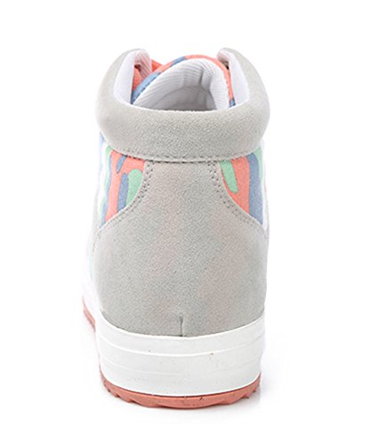 Sneakers Elevator Womens Aisun Gray Boots Height Top Camouflage High xwOxAqBY