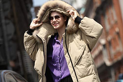 Trench Fur Trim Kakhi you Look u Hood Women Water with Faux Resistent Coat 6F4qwxg5Aq