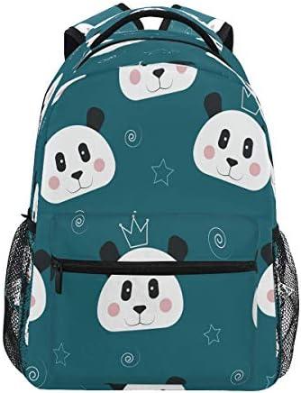 Vinlin Backpack Cute Animal Panda,College School Shoulder Bag Travel Hiking Casual Daypack for Kids Girls Boys Woman Man