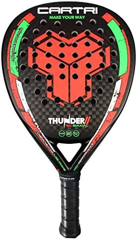 CARTRI Thunder 2 - Pala de Pádel, Unisex, Talla única. Color Negro, Naranja