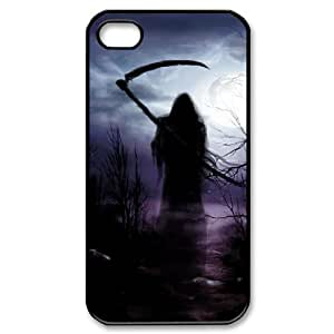 DIYCASESTORE Cheap Hard Shell Diy Iphone 4/4s Cheap Hard Case Grim Reaper, Customized Bumper Plastic case