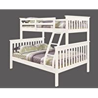 Twin over Full Mission Bunk Bed in White