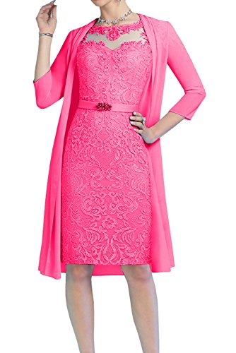 o Mujer Vestido en 54 Rosa Trapecio A para Topkleider Corte gEPBg0