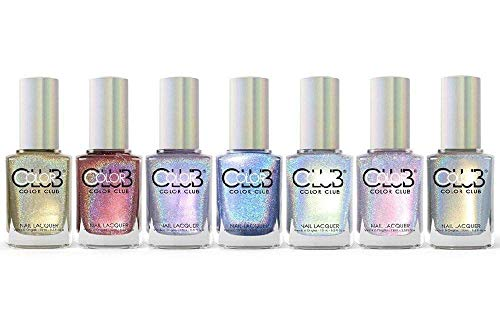 Color Club Halo Hues Collection Fall 2015 Holographic Nail Lacquer Set of 7 ()